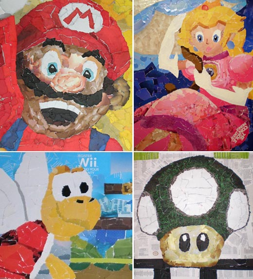 Nintendo Collages by Chris Lange