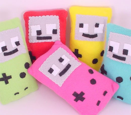 Plush Nintendo Gameboys by KungFuCowgirl