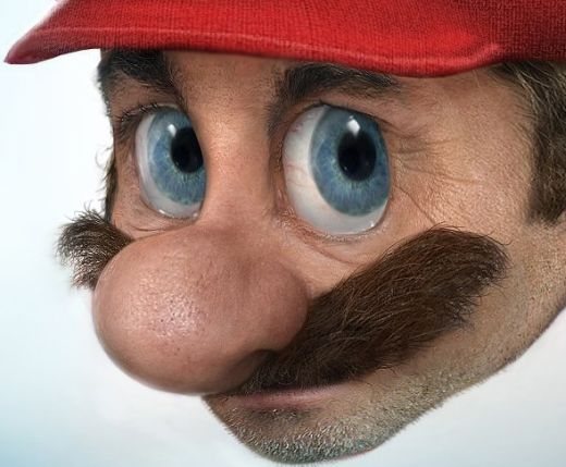 Real Mario Render by Pixeloo