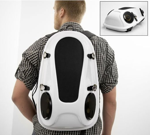 This modern backpack is sure