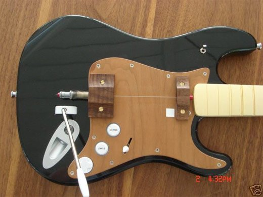 rock band guitar string mod