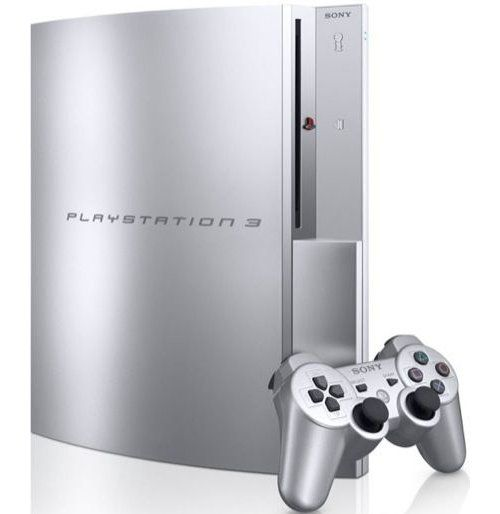 silver playstation 3