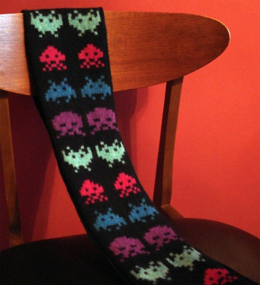 Space Invaders Scarf 2.0 by Wildcat Designs