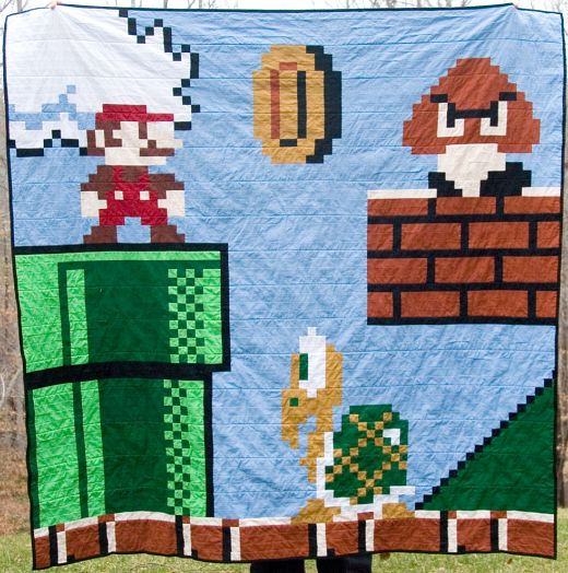 Super Mario Hidden Level Quilt