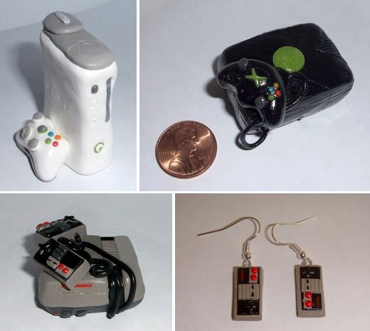 tiny clay game consoles
