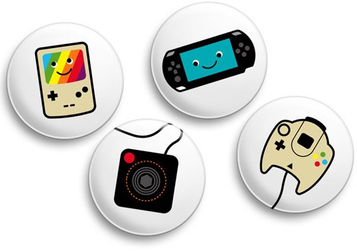 Video Game Badges from Prickie