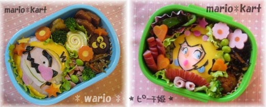 Wario and Princess Peach Bento Boxes