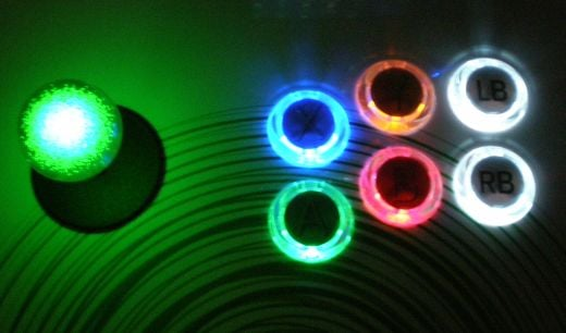xbox 360 glowing buttons stick