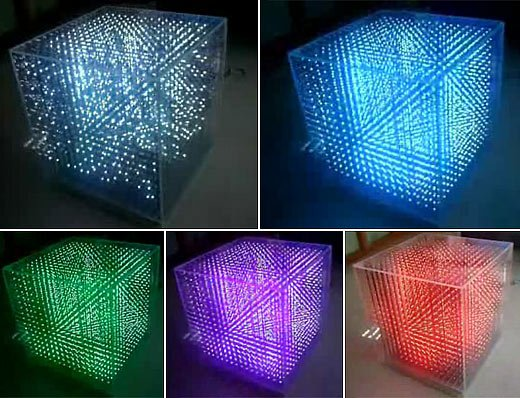 3d color led cube