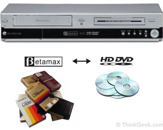 BetaMax to HD-DVD Converter from ThinkGeek