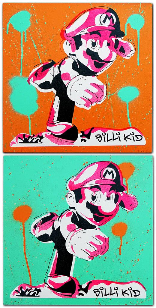 BilliKid Mario Stencil Art