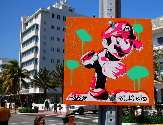 BilliKid Mario Art in South Beach Miami