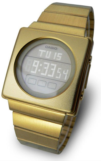 Casio Futurist LA-2002G LCD Watch