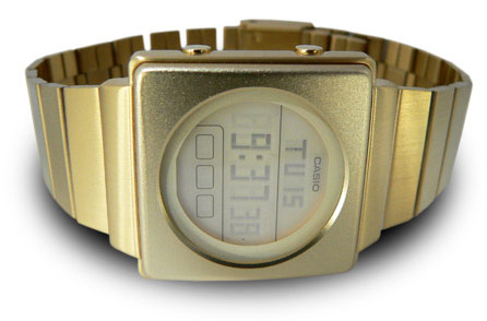 Casio Futurist Gold LCD Watch