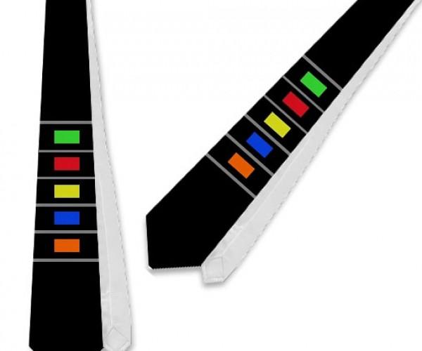 Guitar Hero Necktie Isn'T Skinny Enough