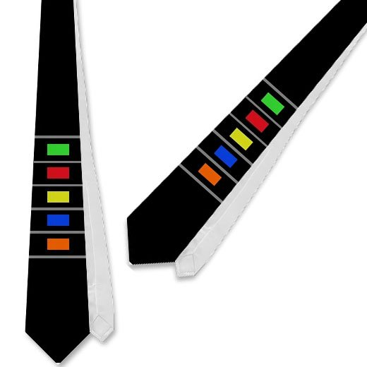 Guitar Hero Necktie Isn'T Skinny Enough