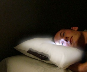 LED Pillow Clock Wakes With Light, Not Sound