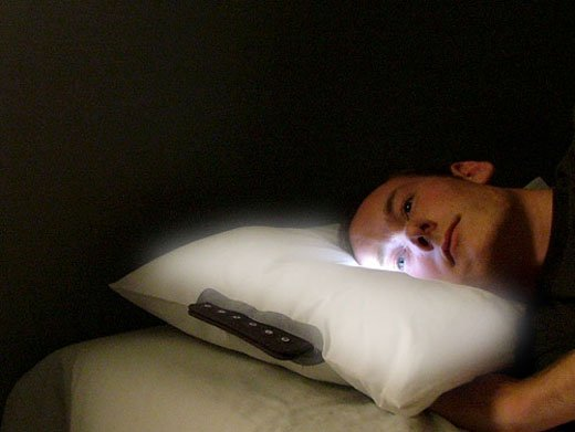 led alarm pillow