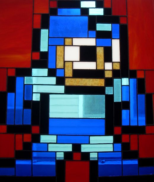 Megaman Stained Glass by Gary in Cleveland