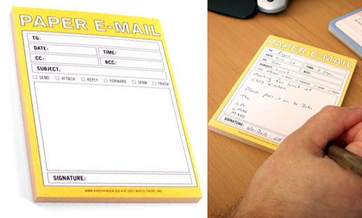Paper E-mail Pads from ThinkGeek