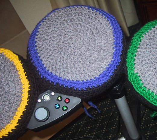 Hand Knit Rock Band Drum Covers