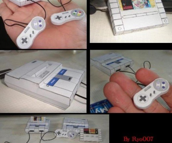 Tiny Super Nintendo Papercraft Goes Anywhere