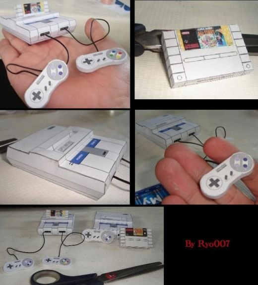 Tiny SNES Papercraft by ryo007