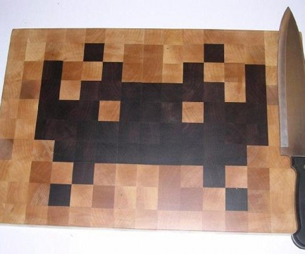 Space Invaders Cutting Board Invades Kitchens