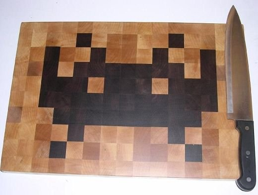 Space Invaders Cutting Board by 1337motif