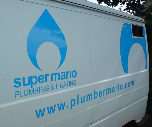 Super Mario Plumbing & Heating Van