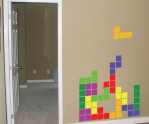 Tetris Vinyl Wall Decals: Blocks Fall on Your Wall
