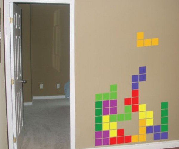 Tetris Vinyl Wall Decals: Blocks Fall on Your Wall