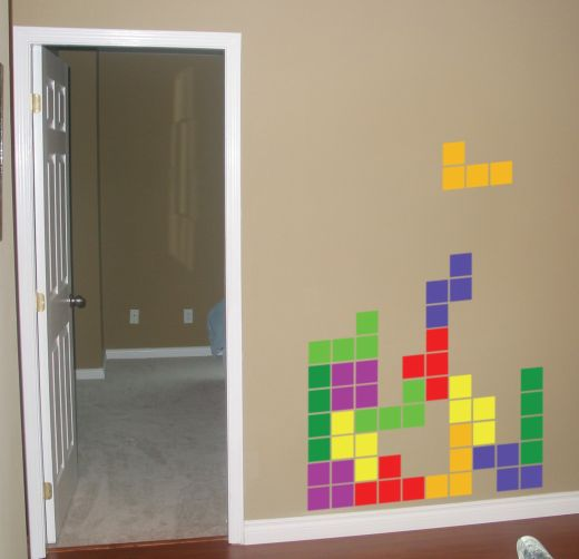 Tetris Vinyl Wall Decals by Fame