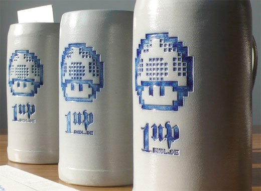 1-Up Beer Mugs