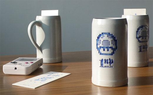 Mario 1-Up Beer Mugs