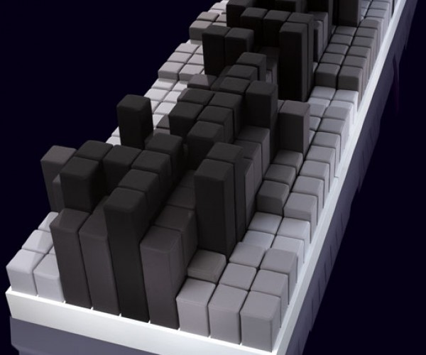 Modular Seating Looks Like Pixel Blocks