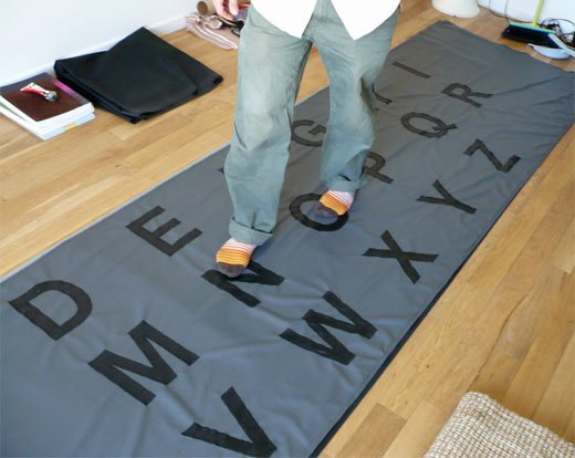 Giant Keyboard Rug by Maurin Donneaud