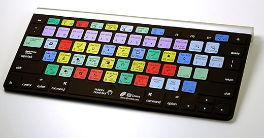 keyboard skin front view