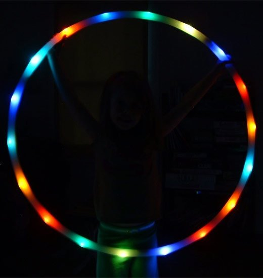 led hula hoop sideways