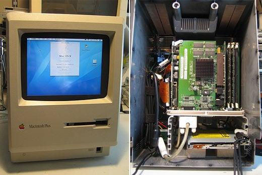 Mac Plus G4 Cub Mod Insides