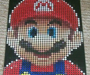 Mario Dot Matrix Orginal Art is Pixel-Y Good