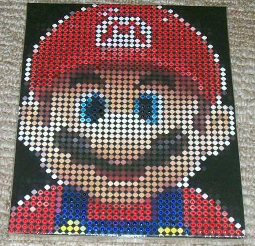 Mario Dotrix Dot Matrix Art on Canvas
