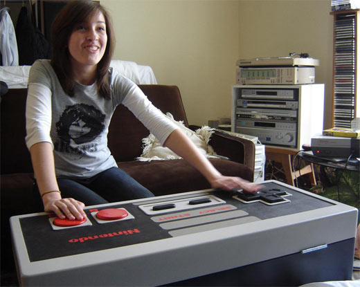 NES Controller Coffee Table in Use