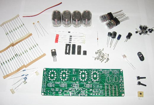 Nixie Clock Kit Parts