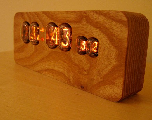 Nixie Tube Clock Wooden