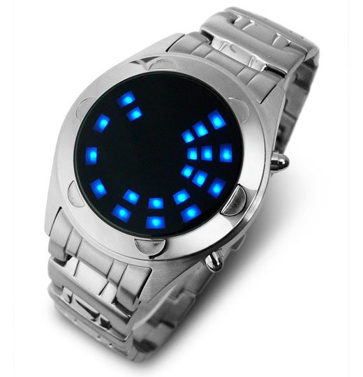 TokyoFlash Oberon SS Blue LED Watch