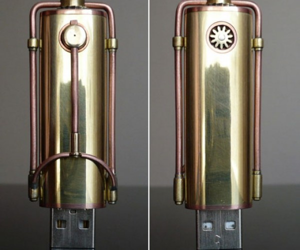 Steampunk USB Memory: Flash, Ah Ah.