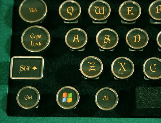Steampunk PC Keyboard