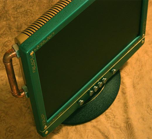 Steampunk LCD Screen