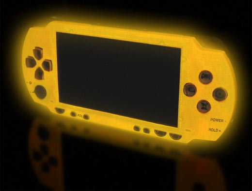 XCM Magic Night Glow PSP Yellow Faceplate